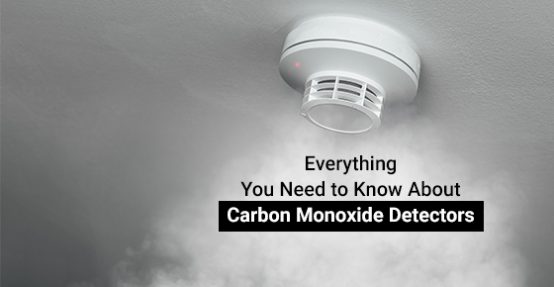 Carbon monoxide detector triggering an alarm